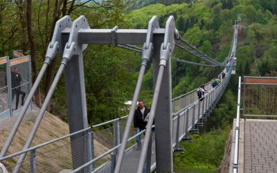 Rappbodetalsperre Seilhängebrücke