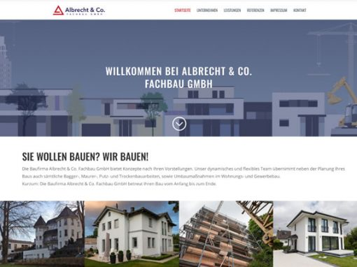 Albrecht & Co. Fachbau GmbH Website Relaunch