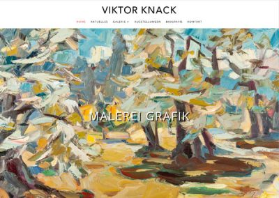 Viktor Knack Website Design