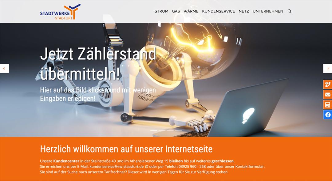 Webdesign Stadtwerke Stassfurt