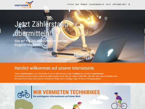 Stadtwerke Staßfurt Website Relaunch